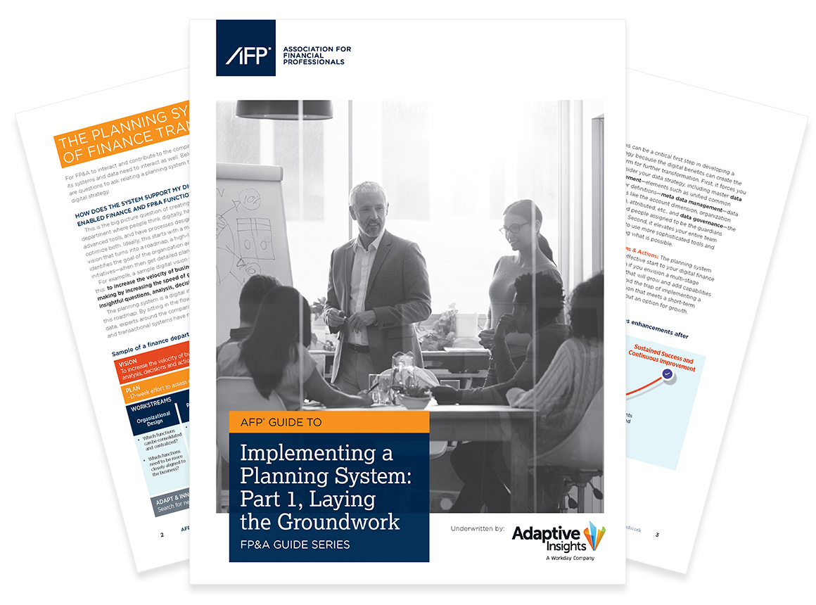 AFP Guide to Implementing a Planning System
